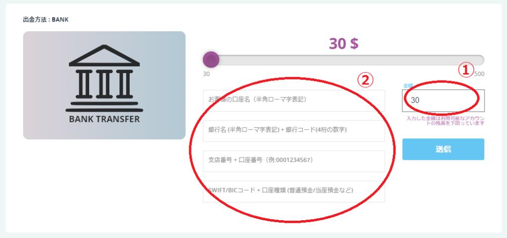 カジノシークレットの出金方法!最低入金額・限度額・手数料【図解】