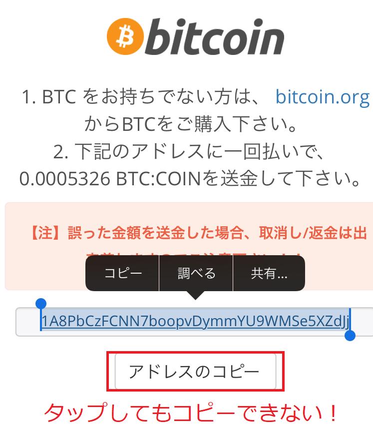 ワンダーカジノ ビットコイン
