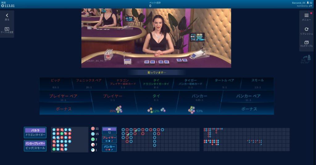 エンパイアカジノのバカラ全テーブルを徹底解説!ベットリミット・ライブプロバイダーも全て紹介します