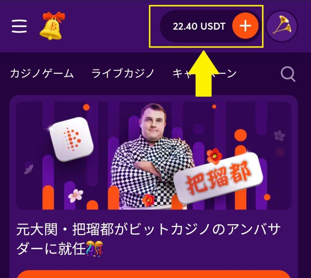 ビットカジノ テザー
